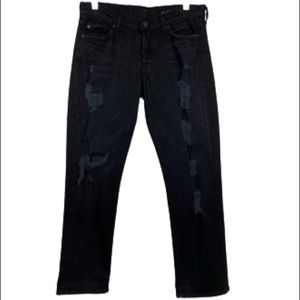 7 For All Mankind Rickie Destroyed Boyfriend Jean